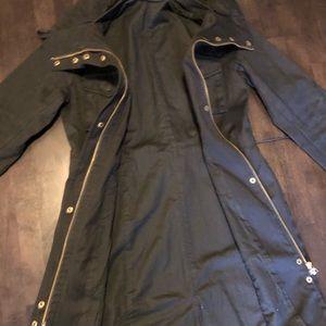 Black Long Utility Jacket - H&M - 8